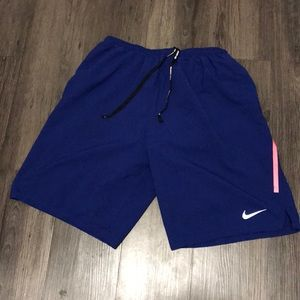 NIKE RUNNING SHORTS WITH COMPRESSION ATTACHED
